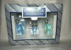 3pc Nautica Fragrances eau de toilette spray .5 oz Blue , Voyage , Classic 💙