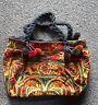29x19cm TrENDY baumwoll  blumen tasche patchwork bestickt Flores
