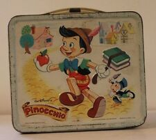 VINTAGE METALw/PLASTIC THERMOS LUNCHBOX 1971 PINOCCHIO