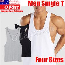 Men Gym Bodybuilding Stringer Tank Top Singlet Vest Sleeveless Racerback T-Shirt