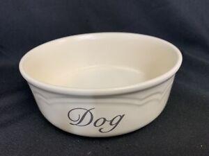 Pfaltzgraff Tea Rose Large Dog Food or Water Bowl USA Made Ivory Pink Floral