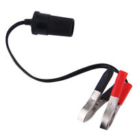 Car Battery Terminal Clip-on Cigarette Lighter Power Socket Adapter 12V Fq