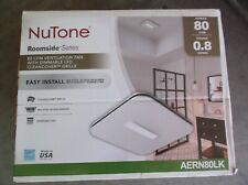 NuTone 80 CFM Bathroom Exhaust Fan with LED Clean Cover AERN80LK