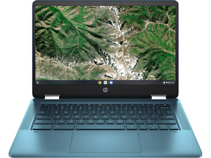 "NEW HP CHROMEBOOK X360 INTEL CELERON 2.8GHZ 4GB 64GB SSD 14"" 2-IN-1 TOUCHSCREEN"