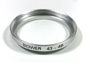Bower 43-46mm Step-Up Adapter Ring, Silver