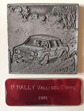 1° RALLY Valli del Torre 1981 TARGA