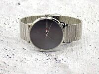 Men's Tommy Hilfiger Watch Stainless Steel Silver Mesh Band Grey Dial 1791465 #1