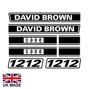 DECAL SET FOR DAVID BROWN 1212 TRACTORS.