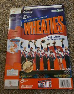 OLYMPIC GOLD Medal Gymnastics TEAM 🇺🇸 USA Women's Wheaties Box ATLANTA 1996