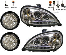New Headlight w/LED & Fog Light PAIR FOR Freightliner Columbia