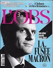 L'OBS N°2678 03/03/2016  LA FUSEE MACRON/ L'ISLAM & LES FEMMES/ TELEPHONE ADOS