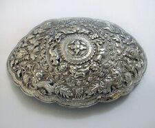 More details for antique straits chinese peranakan malay silver belt buckle pending baba nyonya