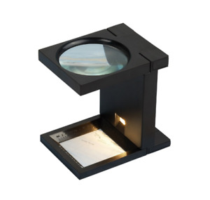 Hands Free Folding Magnifier Magnifiying Glass With Light