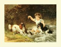 KING CHARLES Cavalier ENGLISH TOY SPANIEL DOG FINE ART PRINT (S) Heywood Hardy