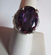 MENS 12.3CT  amethyst RUBY SET IN A STUNNING STERLING HANDSOME RING