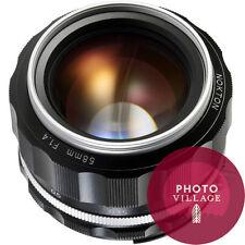 Voigtlander 58mm f/1.4 SLII S N Nokton Nikon AiS SLR Lens Silver Rim