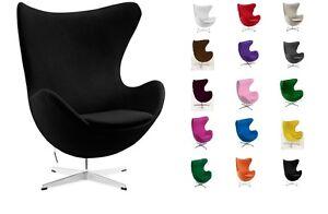 Sessel Stuhl Retro Ei Egg Gepolstert Kaschmir Armlehnenstuhl Design Vetrostyle