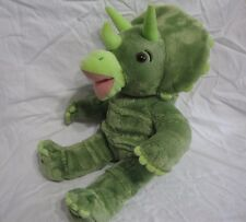 ae6bdcda002 Build A Bear Green Triceratops Dinosaur Plush Toy Stuffed 18