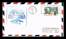 DR JIM STAMPS US FORT WAYNE INDIANA AM 12 FIRST FLIGHT AIR MAIL COVER NEWARK