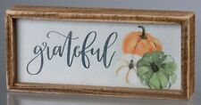 Grateful Pumpkin Wood Box Sign Primitives By Kathy Fall Harvest Thankful Decor