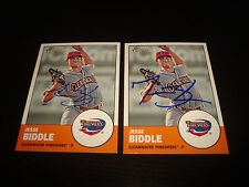Jesse Biddle Threshers Phillies 2012 Topps Heritage #127 Signed Autograph 920