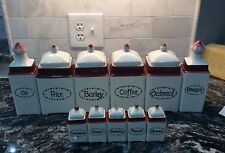 Vintage 22 Piece Canister Ceramic Set From Czechoslovakia