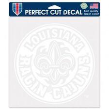 Louisiana Ragin Cajuns White Perfect Cut Decal NEW! FREE SHIPPING! 7x7 Inches