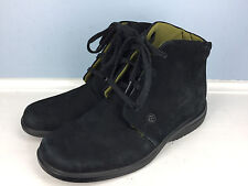 Rockport Black suede leather lace up women size 5 ankle boot career casual oxfor