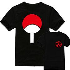 Top Anime Naruto Sasuke Cotton Shirt Short Sleeve T-shirt Casual Clothes Summer