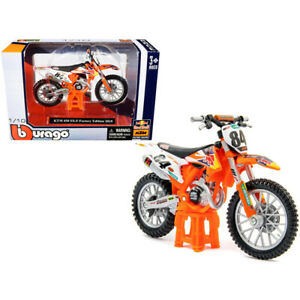 KTM 450 SX-F #84 Red Bull Factory Edition 2018 1/18 Diecast Motorcycle Model ...