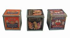 Dolls House Miniature1/12th Scale Accessory Set of 3 Vintage Biscuit Tins D1170