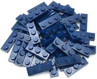LEGO 50 NEW DARK BLUE FLAG 4 X 1 WAVE LEFT PIECES PARTS