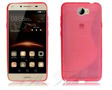 "For Huawei Y6 II Compact (5"") LYO-L01 Y5 2 (II) New Black Gel Rubber Phone Case"