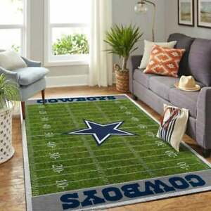 Dallas Cowboys Home Field Rug, Dallas Cowboys NFL Football Field Area Rugs