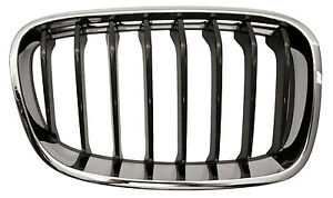 For BMW 1 SERIES Front Grille Black/Chrome Sport Model Right Hand 2012-2015