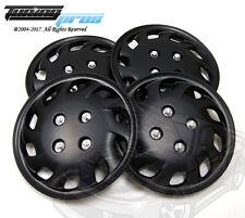 "4pcs Qty 4 Wheel Cover Rim Skin Cover 14"" Inch, Style 501 14"" Hubcap Matte Black"