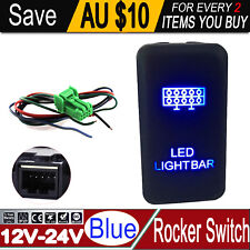 Push Blue LED Light Bar Switch For Toyota Landcruiser Hilux Prado Hiace Rocker