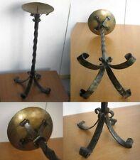 Boden-Kerzenständer 66cm hoch Bronze-/Mess.3,4Kg handgeschmiedet kein Guß-