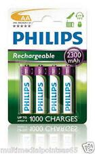 PHILIPS BATTERIA RICARICABILE STILO AA 4 Pack AA R6NM 1,2V 2300 MAH NIMH