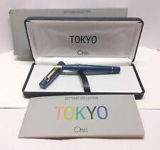 Omas Tokyo fountain pen blue navy Sottsass collection vintage perfect