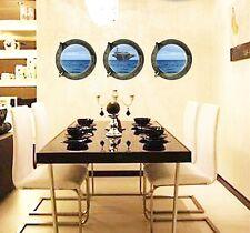 3D Submarino Ventana Grande Barco Mar Adhesivo Pared PVC Adhesivos Vinilo Mural