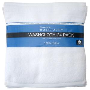 Grandeur Hospitality Towels, Washcloth 24-piece