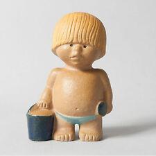 gustavsberg boy lisa larsson figure mid century sweden collectible west