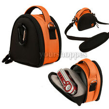 Orange Digital Cameras Bag Case For Sony Cyber-Shot DSC-WX150 DSC-RX100