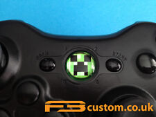 Custom XBOX 360 * Creeper * Logo Guide button F3custom.co.uk