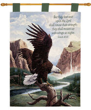 Freedom ~ American Bald Eagle Tapestry Wall Hanging w/Verse ~ Linda Picken