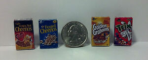Dollhouse Miniature Cereal Box Breakfast Food Set 1:12 scale D50B Dollys Gallery