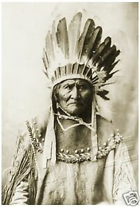 "GERONIMO Native American INDIAN CANVAS Photo Giclee Art Print - LARGE 13"" x 19"""