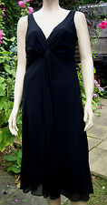 ECLIPSE Black Lined Sleeveless Knee Length Party Cocktail Dress Size 14