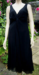 ECLIPSE Black Lined Sleeveless Knee Length Party Cocktail Dress Size 14 BNWT